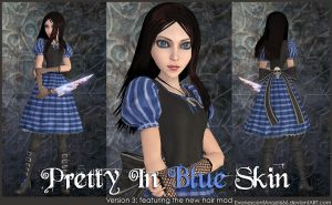 A:MR Skin - Pretty In Blue by EvanescentAngel666