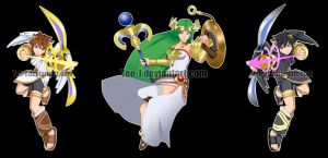 Smash Stickers: Kid Icarus by Tee-J