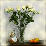White rose and Pear liqueur 1 by AnnaZLove