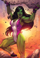 She Hulk Colors -  Marcio Abreu by MARCIOABREU7