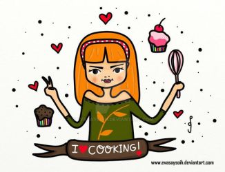 She loves cooking by Evasaysoih