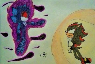 (Request Done) Shadow VS Mephiles by Shadowfirering