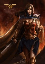 Wonderwoman of Dawn of Justice Fanart by dylanliwanag