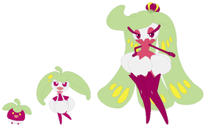 Bounsweet, Steenee and Tsareena Base