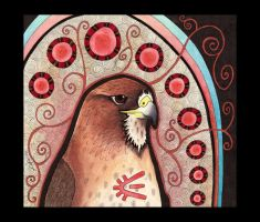 Red-Tailed Hawk as Totem by Ravenari
