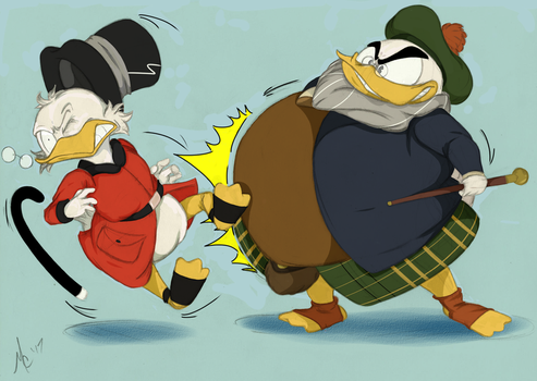 High-class Battle of Wits and Gentleducks_COLORS by InkBottleInc