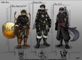Nsa Concept Art Basic Soldiers Of Three Factions by VLADSPARTA