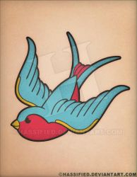 Swallow Tattoo by hassified