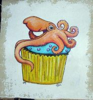 Octopus Cupcake patch version by askoi