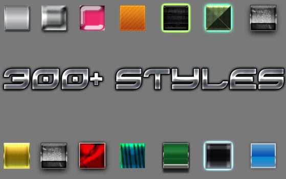 300+ Styles For Photoshop CS6 ! by Massacreur