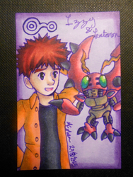 Izzy and Tentomon ATC by Libra-the-Hedghog