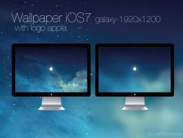 wallpaper ios7galaxy- with logo appple by ventheerawat