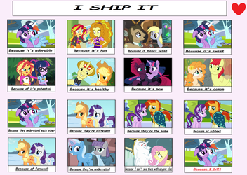 l + I ship it meme + l MLP  by Mintoria