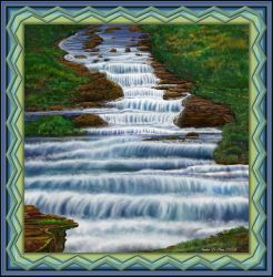 Waterfall Painting 2016 by StephenL