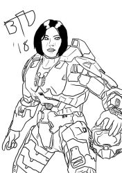 34 Cortana to Master Chief by Imbriaart