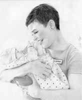 Mary Margaret and Baby Henry by julesrizz