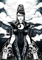 Bayonetta (Inks) by Silent-Neutral