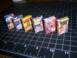 Miniature Cereal Boxes by MisterBill82