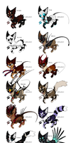 Themed Adoptables by Squiggy-Adoptables