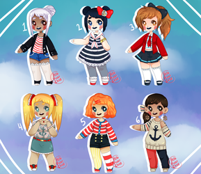 { nautical adopts } { 1/6 OPEN } by hello-planet-chan
