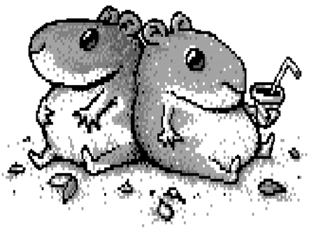 Sitting Hamsters by jelbo