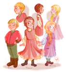 Ukrainian children by Ermy