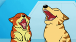 Dogs' Maniacal Laughter by AnScathMarcach