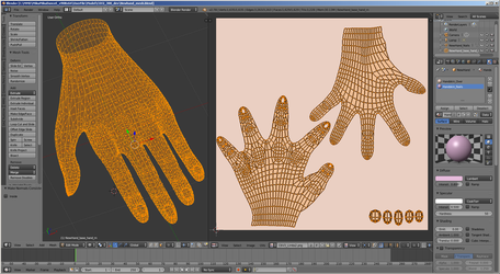 [MMD WIP] Path to C6V3 n.6 (hands UVmap) by Riveda1972