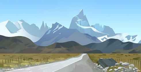 mountains by tinysnail