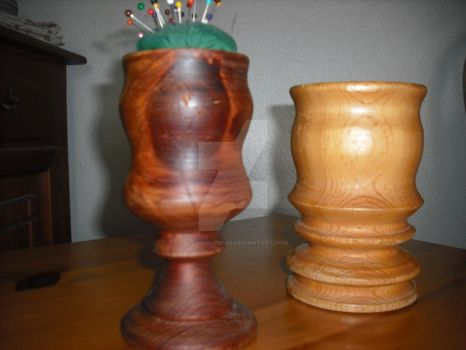 Wood Turning Goblets by AlchemicDruid