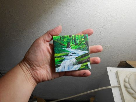 Pocket Painting - Forest River by zaionczyk