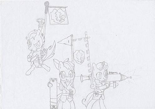 Cutie Mark Crusaders, Soldiers! by BlueScrew