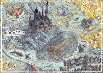 Hogwarts Map by CoalRye