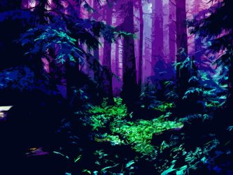 Fluorescent Forest by PsyHye