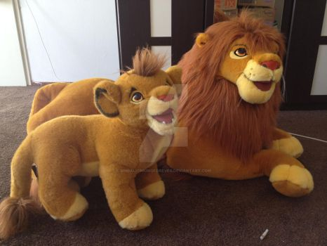 Adult simba douglas en co plush by SimbaLionKingForever