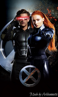 Cyclops and Jean Grey by ArkhamNatic