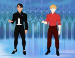 Michael and Aaron (Return of the Greek Gods) by suburbantimewaster