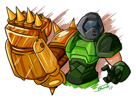 DoomFistGuy 2.0 by GunShad