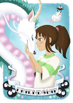 Chihiro and Haku FRIENDSHIP by NikkiWardArt