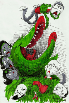 Ink17 Week 2 Little Shop of Horrors by Monster-of-Something