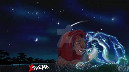 The Lion King - Simba and spirit of the  Mufasa by Diego32Tiger
