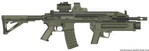 SPR sniper rifle meets Steyr AUG by Super6-4