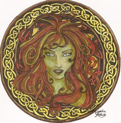Gaille Green Woman - Colour by DaturaDesign