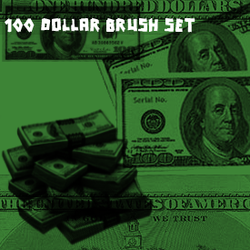 100 dollar brushset by JoeTheDeathGod