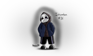 Inkcember 26 - Dust!Sans by Nabuco88