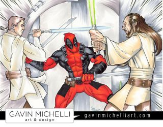 Jedi vs Pith Lord by GavinMichelli