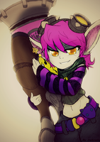 League of Legends - Tristana Riot Girl (Colored) by Debreks