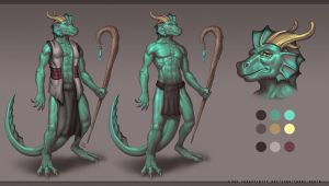 Afuliu Character Sheet - 2018 Commission by StriderDen