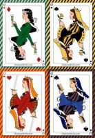 Hogwarts Playing Cards by MonsieurArtiste