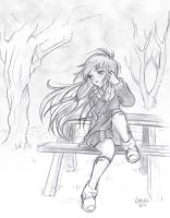 Yukino's Picnic Table by hythrain